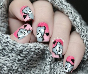 nails, bear, and beauty image
