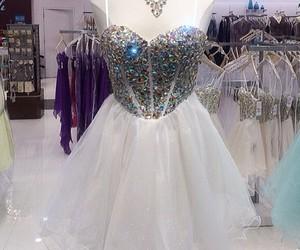 dress, glitter, and white image