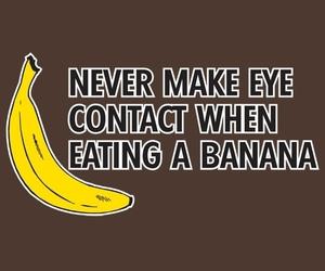 banana, funny, and never image