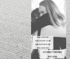 best friends and internet friends image