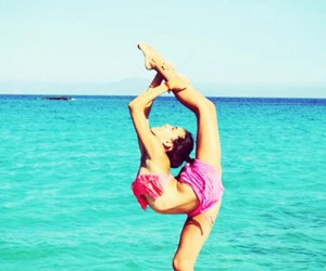 flexibility, gymnastics, and summer image