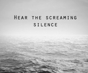 silence, quote, and ocean image