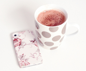 iphone, pink, and floral image