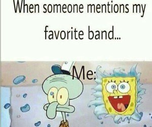band, funny, and spongebob image