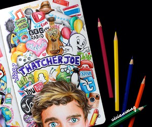 art, joe sugg, and draw image