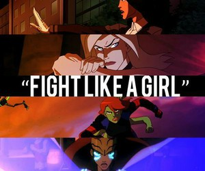 girl and fight image