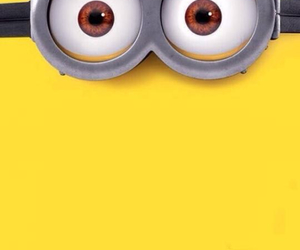 minion, yellow, and eyes brown image
