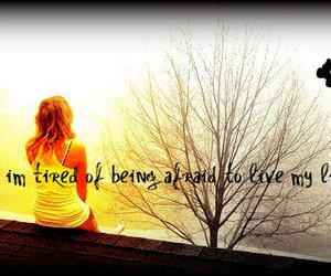 girl, quotes, and tree image