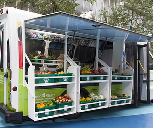 bus, healthy, and produce image