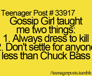 quote, chuck bass, and gg image
