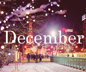 city, december, and lights image