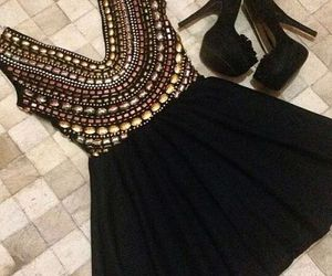 dress, black, and heels image