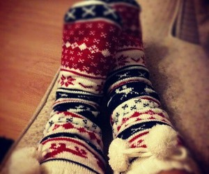 socks, christmas, and winter image