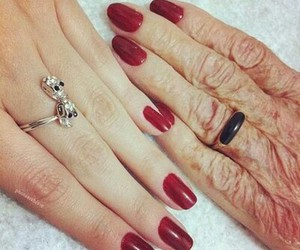 nails, red, and old image