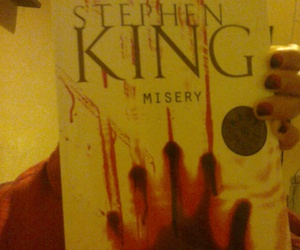 books, misery, and Stephen King image