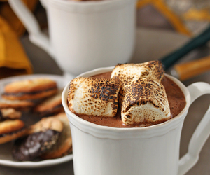 chocolate, marshmallow, and cocoa image