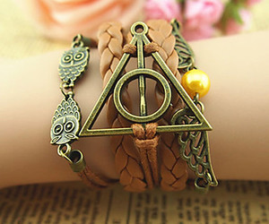 bracelet, deathly hallows, and harry potter image
