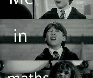 harry potter, math, and maths image