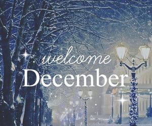 december, snow, and christmas image