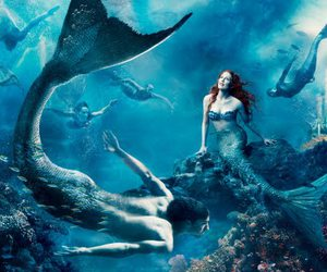 mermaid, disney, and julianne moore image