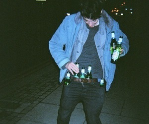 boy, grunge, and beer image