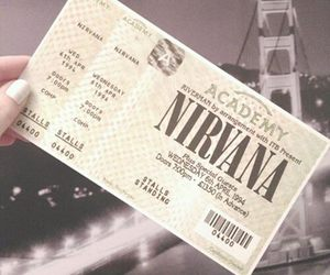 nirvana, ticket, and grunge image