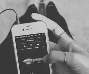 music, arctic monkeys, and black and white image