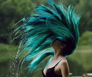 blue, girls, and hair image