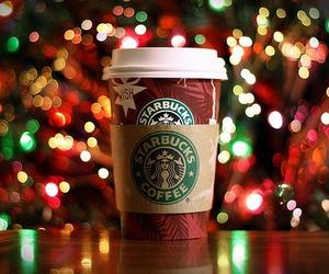 Christmas time, starbucks, and hot chocolate image