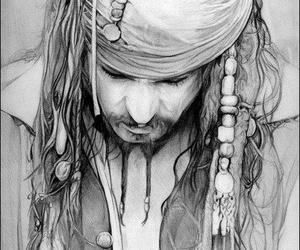 draw, johnny depp, and black pencil image