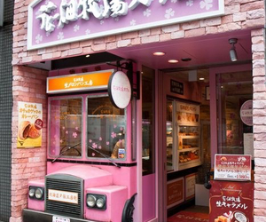 japan, pink, and shop image