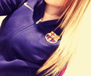 Barca, football, and girl image
