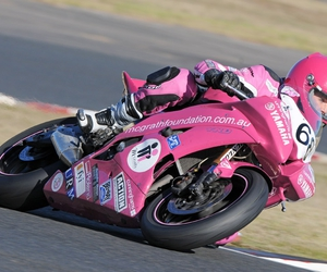 helmet, pink, and racing image
