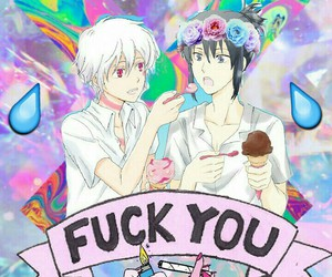 anime, yaoi, and pastel goth image