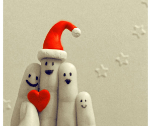 christmas, fingers, and heart image