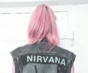 nirvana, grunge, and pink image