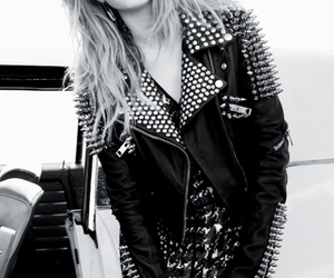 emma roberts, black and white, and Elle image