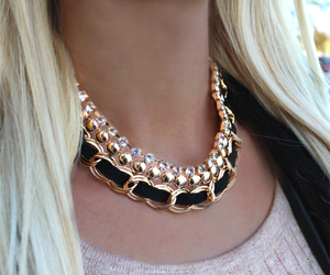 accessories, beautiful, and black and gold image