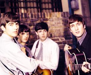 the beatles, george harrison, and Paul McCartney image