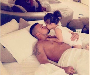 baby, bed, and kiss image