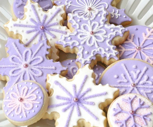 Cookies, purple, and christmas image