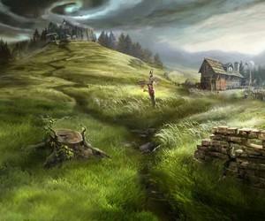 dark, fantasy, and sky image
