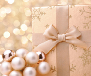 bow, presents, and pretty image