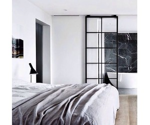 house, white, and bed image