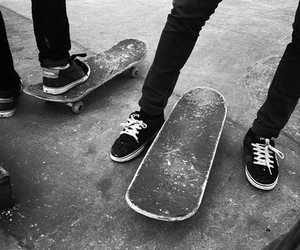 skate, boy, and skateboard image