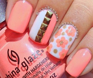 floral, nailart, and nails image
