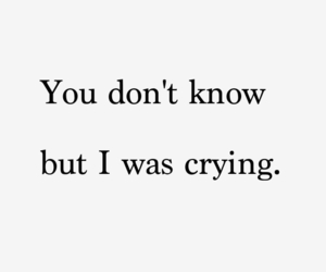 quote, cry, and crying image