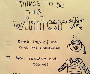 winter, tea, and christmas image