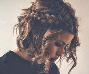braid, brown, and hair image