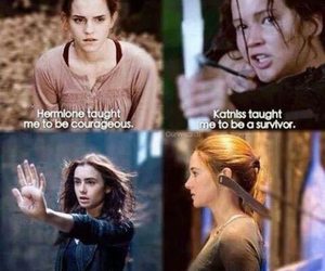 harry potter, clary, and divergent image